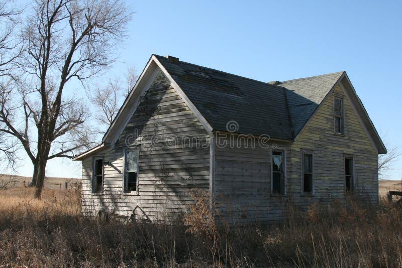 Старые дома через Midwest стоковое изображение