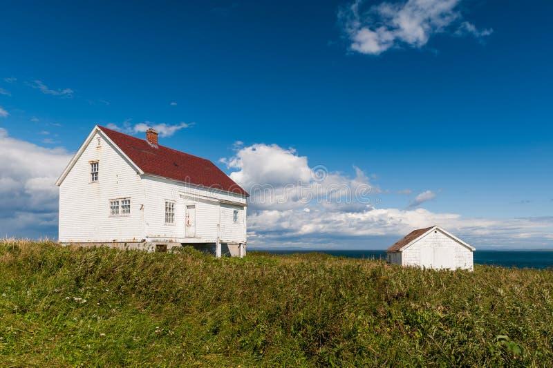 Старые деревянные Белый Дом и сарай стоковые фотографии rf