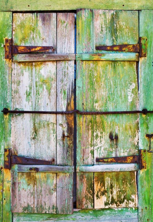 Старые деревянные штарки, предпосылка стоковое фото