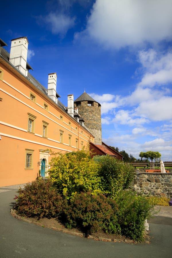 Старые замки и дома стоковые фотографии rf