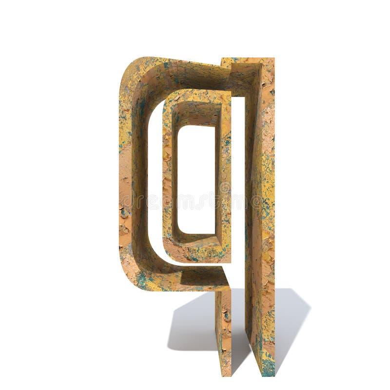 Старые заржаветые шрифт металла или тип, железное piecekground сталелитейной промышленности Educative ржавый материал, постаретый иллюстрация вектора