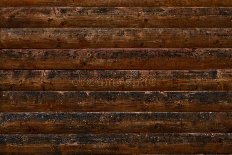 Старые затрапезные деревянные планки Темная коричневая деревянная поверхность grunge Затрапезная темная деревянная текстура Табли стоковое изображение rf