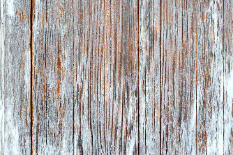 Старые затрапезные деревянные планки с треснутой краской цвета стоковое фото