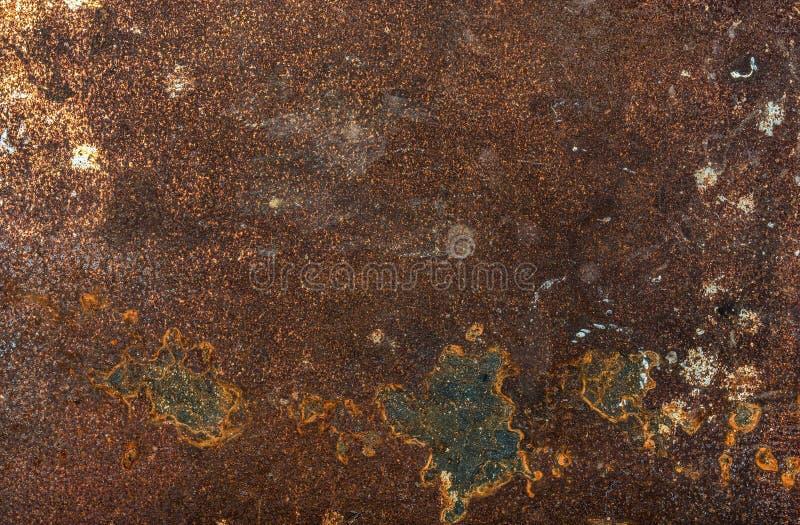 Старые затрапезные ржавые текстура, предпосылка или обои металла стоковое изображение rf