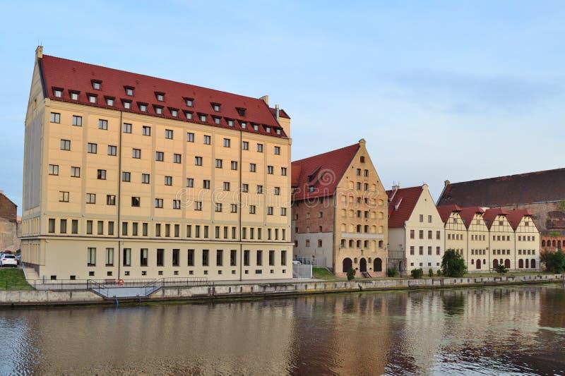 Старые здания в Гданьске стоковое изображение rf