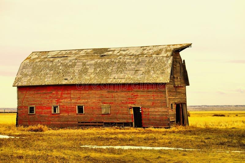 Старые здания в западной Северной Дакоте стоковое изображение rf
