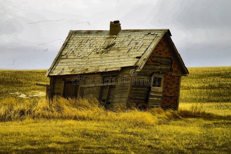 Старые здания в западной Северной Дакоте стоковое фото rf