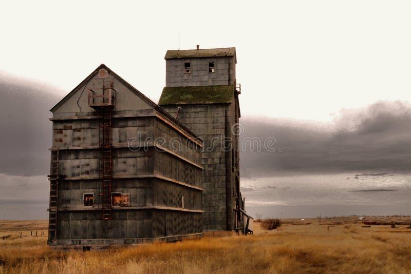 Старые здания в западной Северной Дакоте стоковые фотографии rf