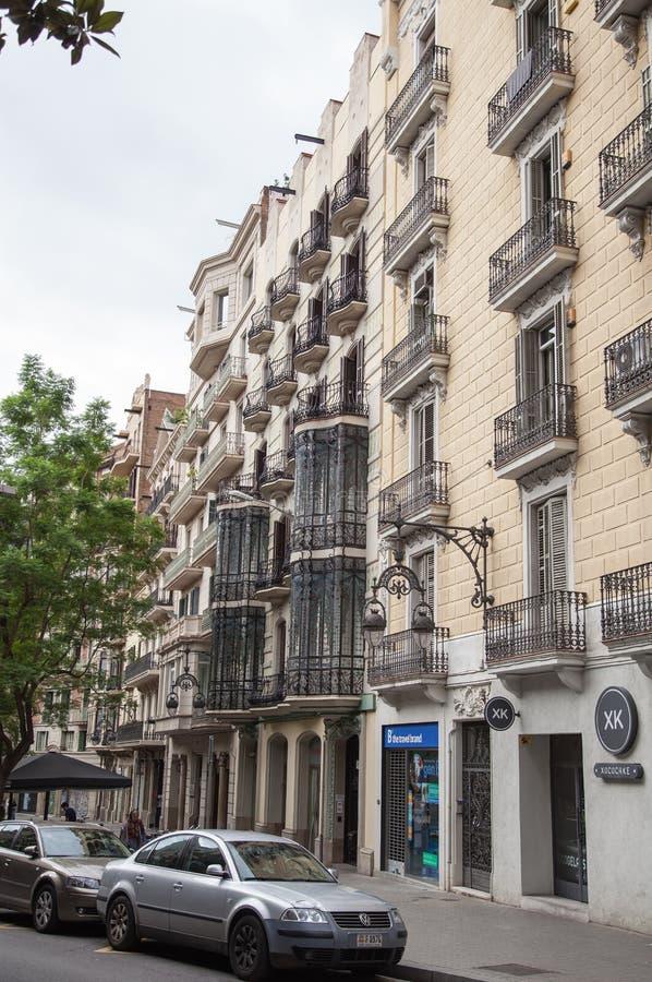 Старые здания Барселона стоковые изображения rf