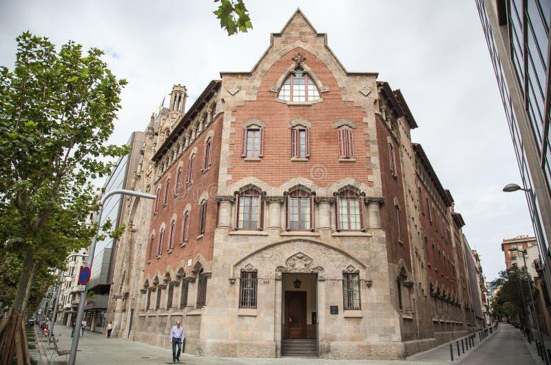 Старые здания Барселона стоковое фото