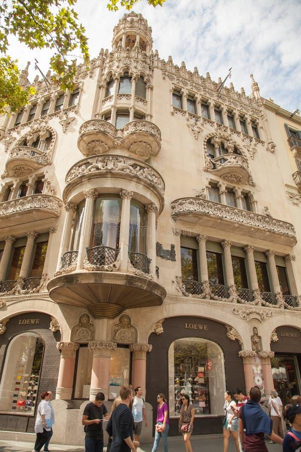 Старые здания Барселона стоковая фотография