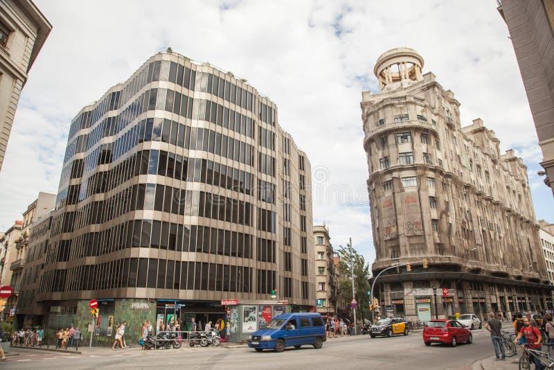 Старые здания Барселона стоковые фотографии rf