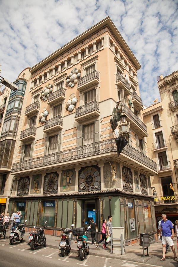 Старые здания Барселона стоковое изображение rf