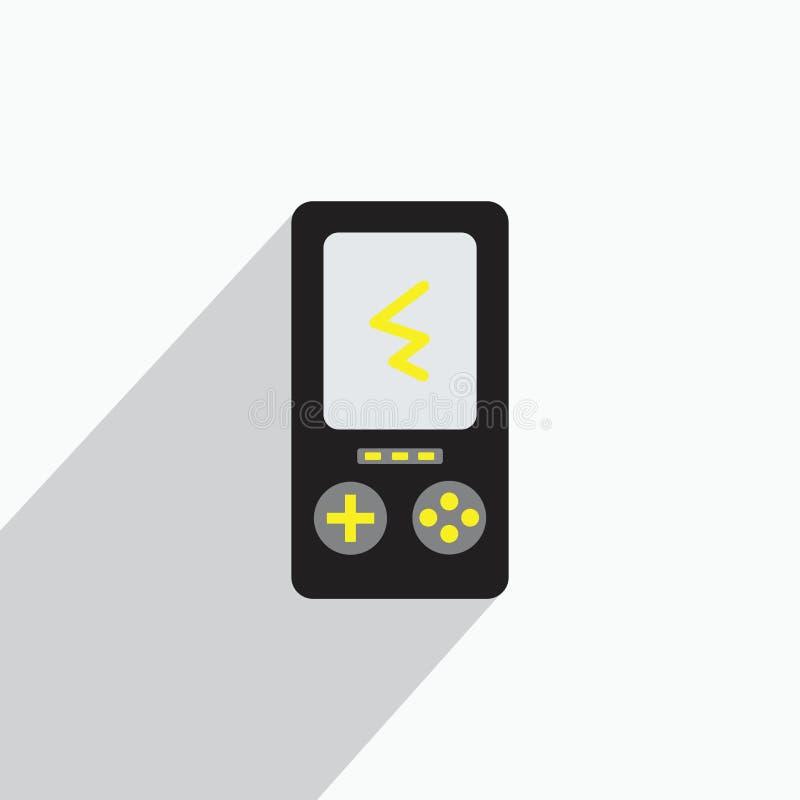 Старые иллюстрации мальчика игры или концепция значка иллюстрация вектора