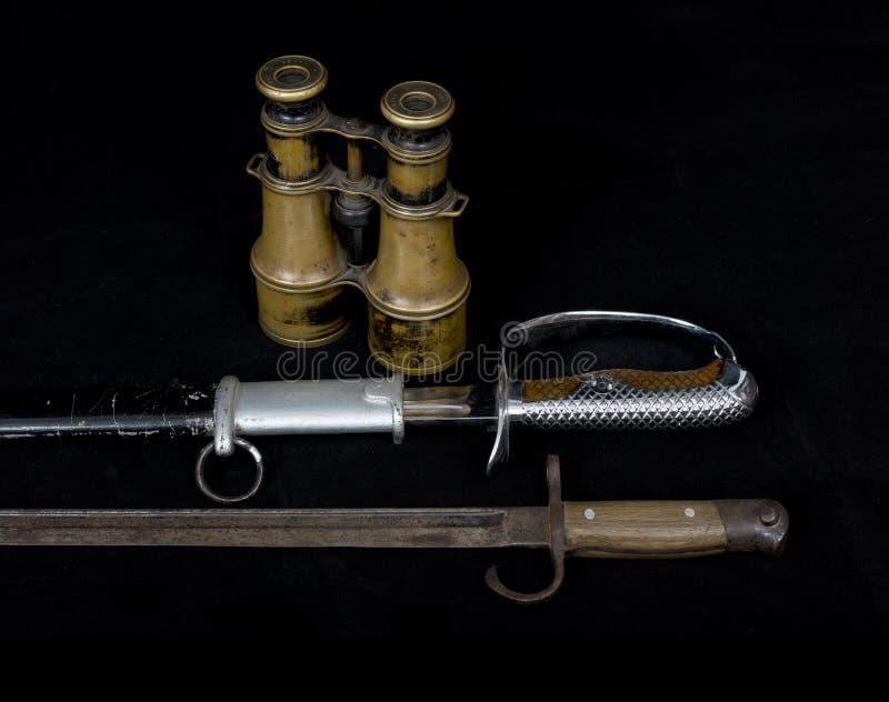 Старые исторические оружия, солдат оружий японский во время Worl стоковое фото