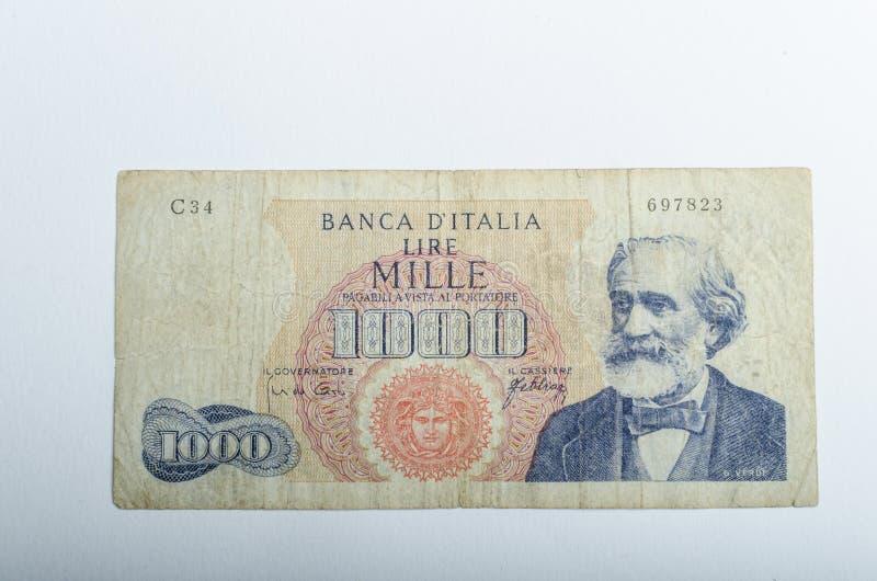 Старые итальянские банкноты, деньги стоковые фото
