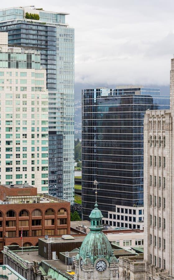 Старые и новые здания Ванкувера стоковое фото