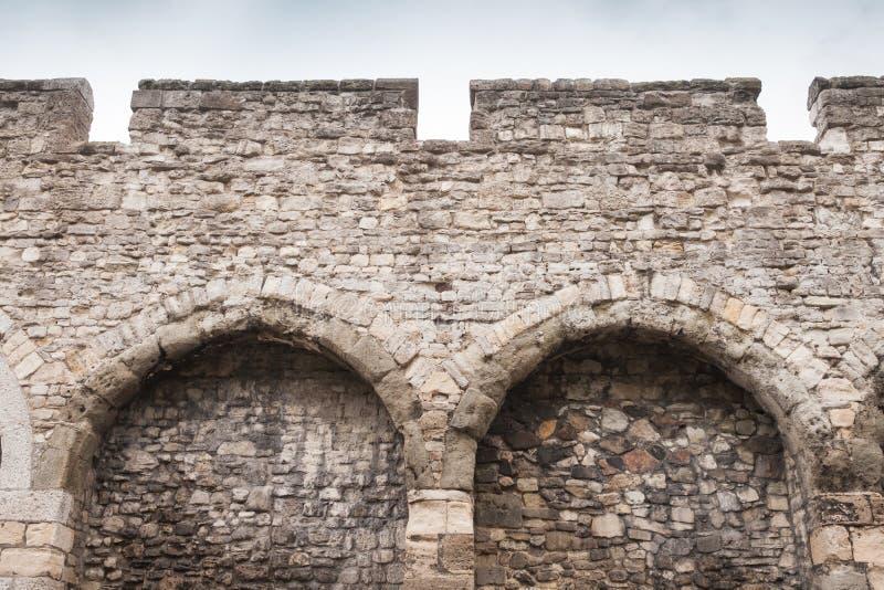 Старые каменные стены городка Саутгемптона стоковая фотография