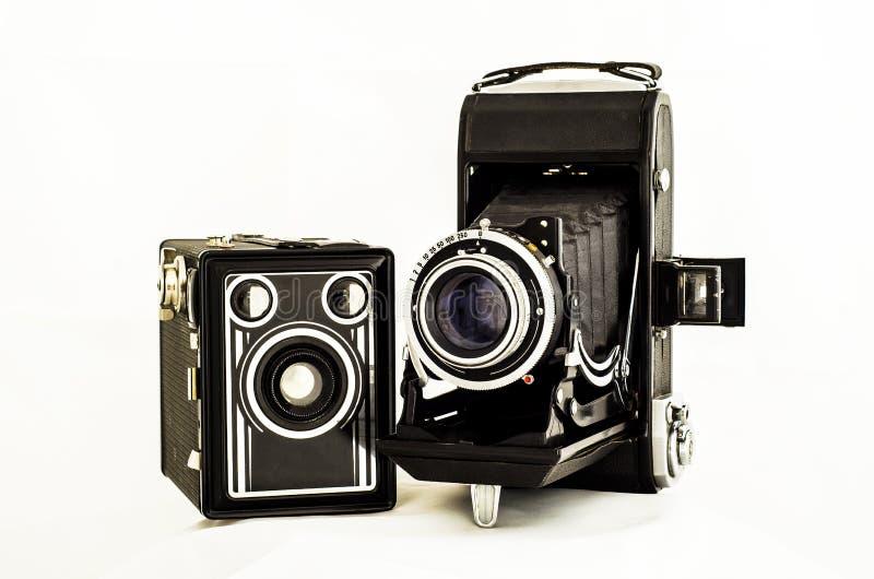 Старые камеры стоковые изображения