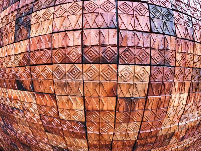 Старые картины керамических плиток стены handcraft внутреннее backgound от публики парков Таиланда стоковые фото