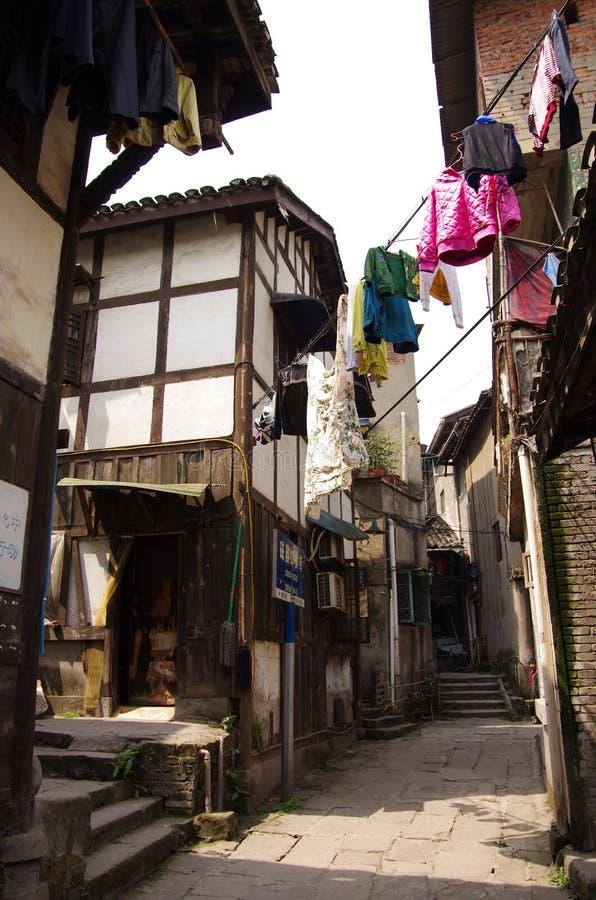 Старые китайские здания Чунцин Сычуань Китай стоковое изображение