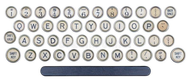 Старые кнопки машинки стоковая фотография
