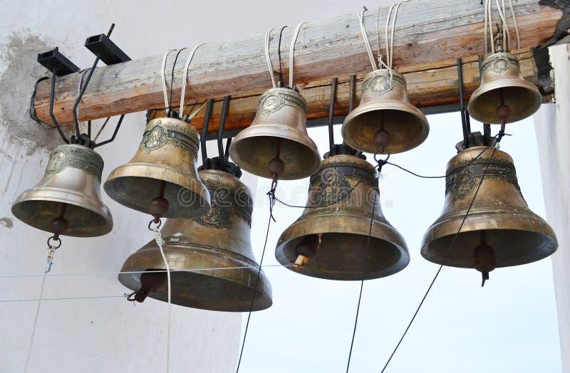 Старые колоколы церков стоковое изображение rf
