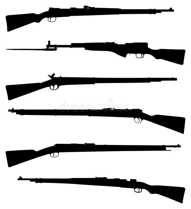 старые корокоствольные оружия 6 иллюстрация вектора