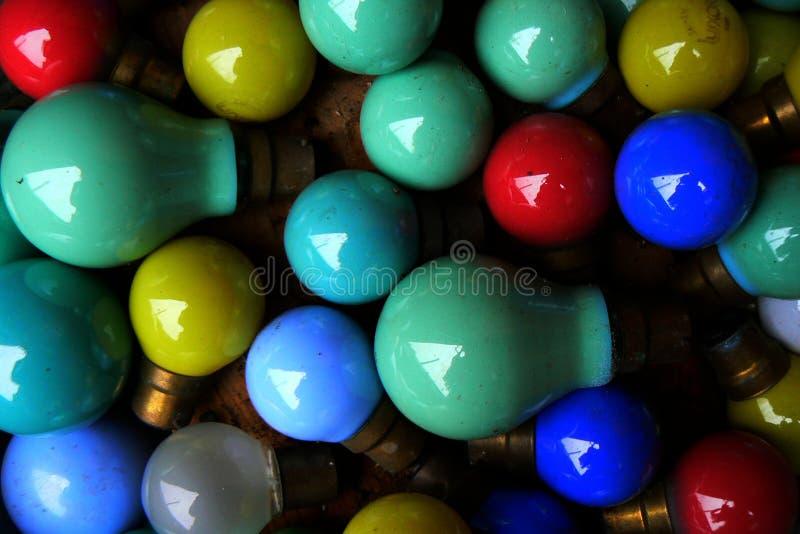 Старые красочные шарики стоковое фото rf