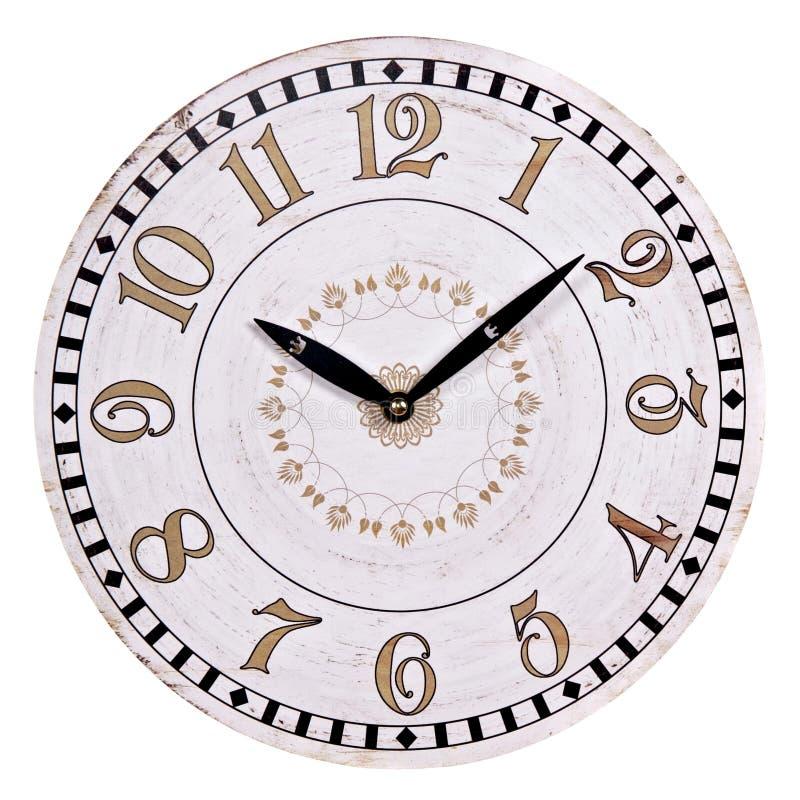 Старые круглые настенные часы стоковые фото