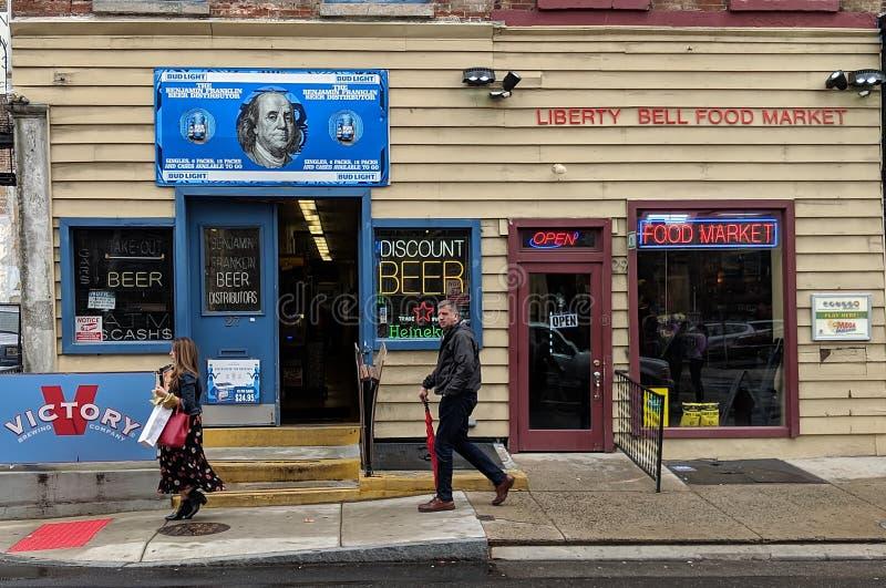 Старые магазины в Филадельфии - 1 стоковая фотография rf