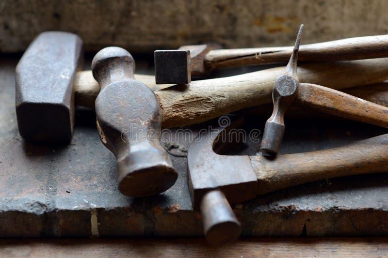 Старые молотки стоковая фотография rf
