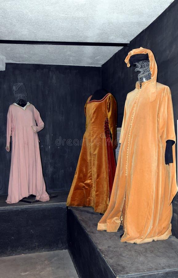 Старые одежды на замке Zumelle, в Беллуно, Италия стоковое фото rf