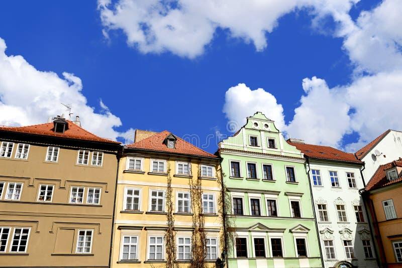 Старые дома в Праге стоковое фото