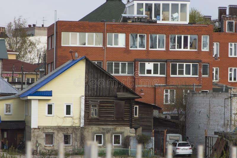 Старые дома Nizhny Novgorod стоковое фото