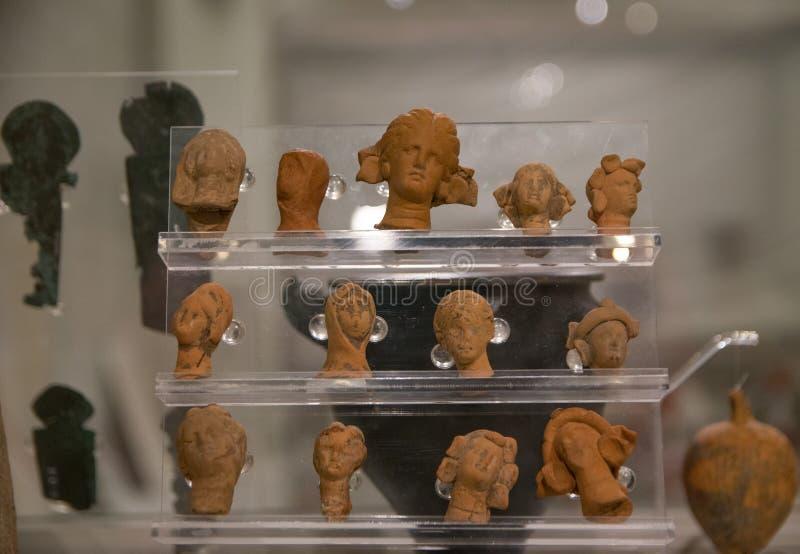 Старые остатки цивилизации Карфагена стоковые фото