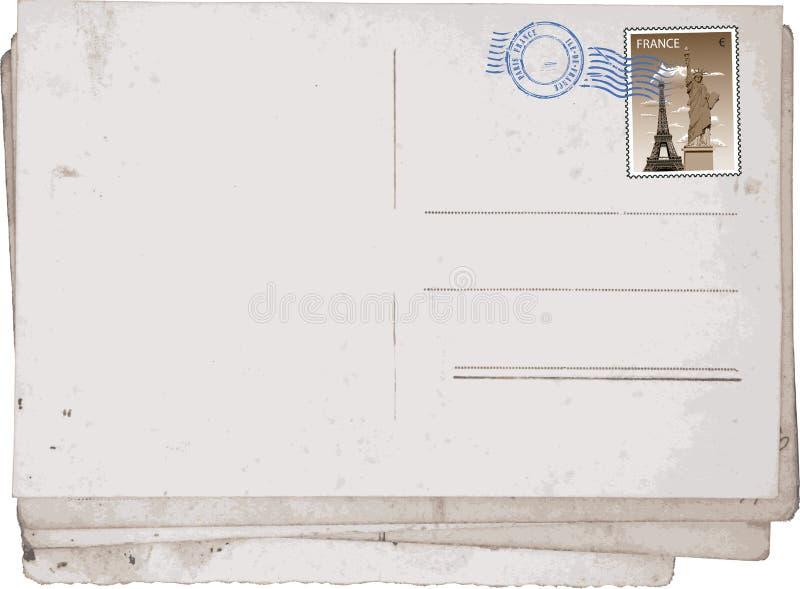 старые открытки paris иллюстрация вектора