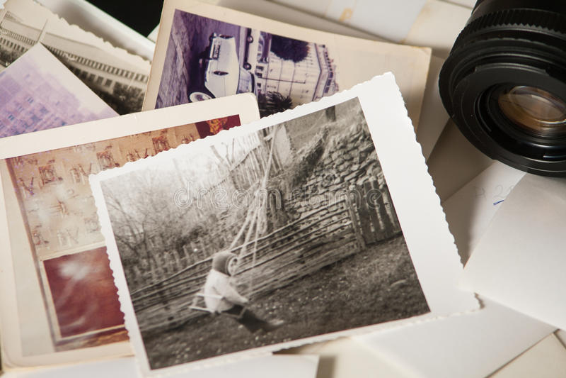 Старые памяти фотографии стоковая фотография rf