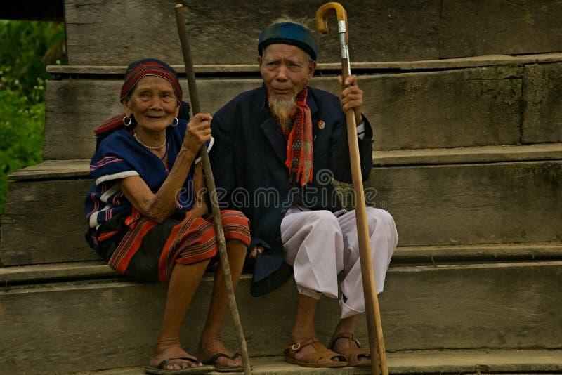 Старые пары во время фестиваля буйвола стоковое фото