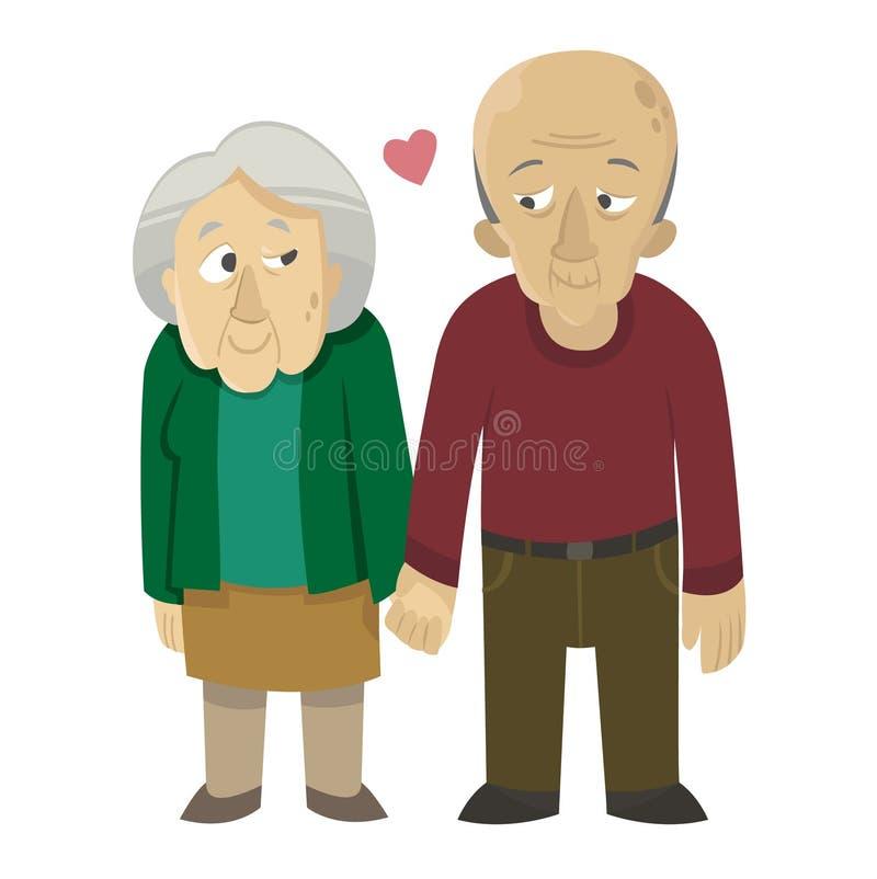Старые пары в влюбленности стоковое изображение