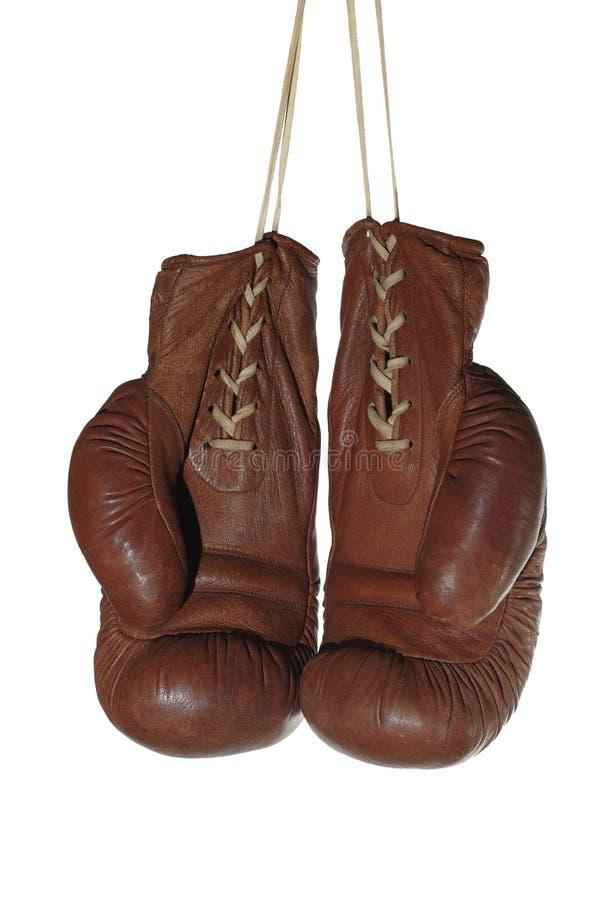Старые перчатки бокса стоковые изображения