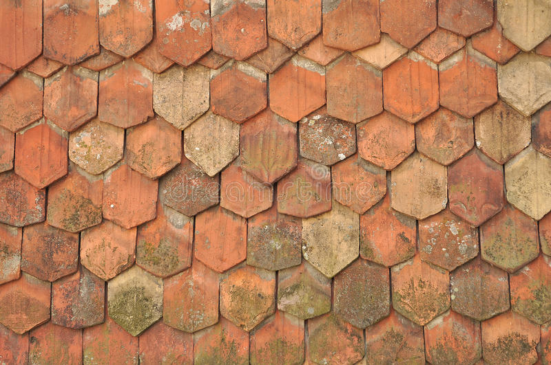 старые плитки крыши стоковое изображение rf
