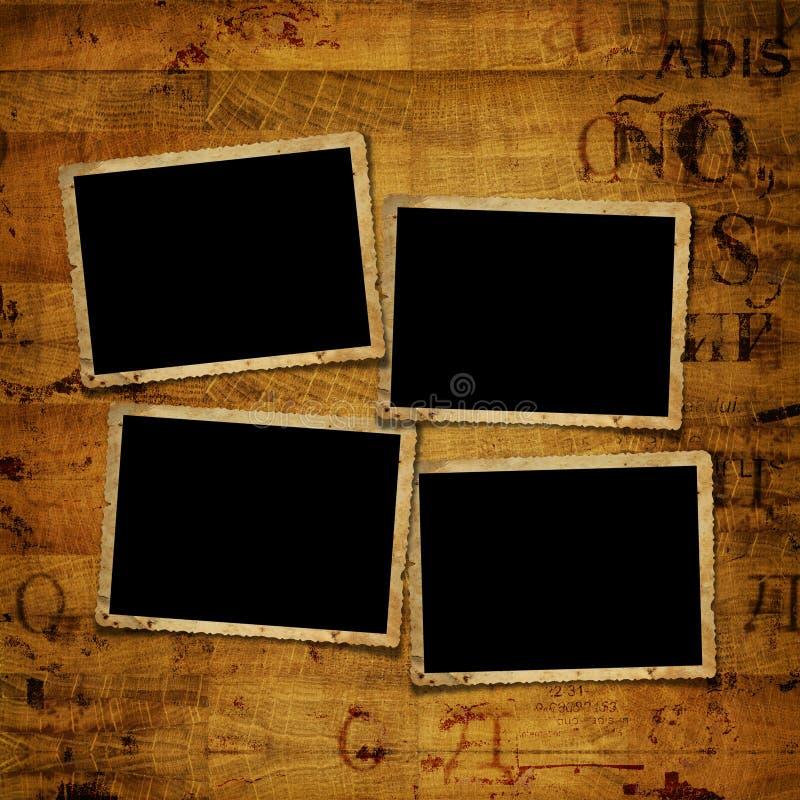 Старые рамки бумаги grunge стоковая фотография rf