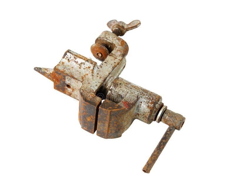 Старые ржавые тиски стоковая фотография