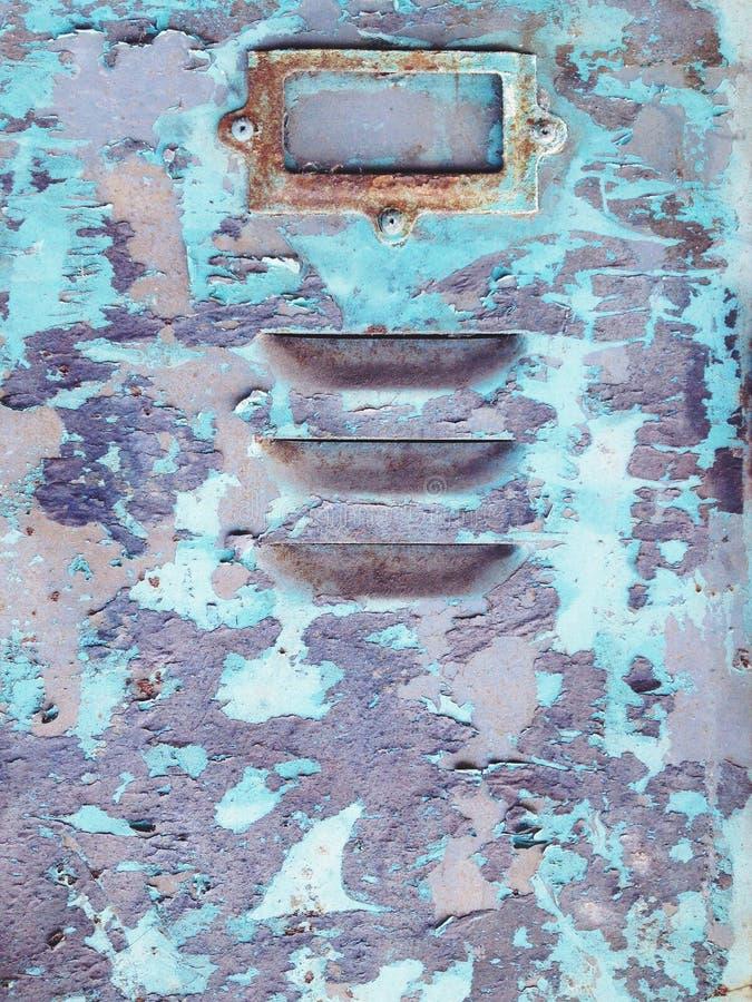 Старые ржавые шкафчики стоковые изображения rf