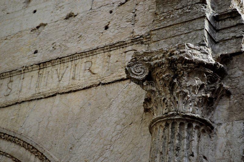 Старые римские руины Вероны стоковая фотография rf