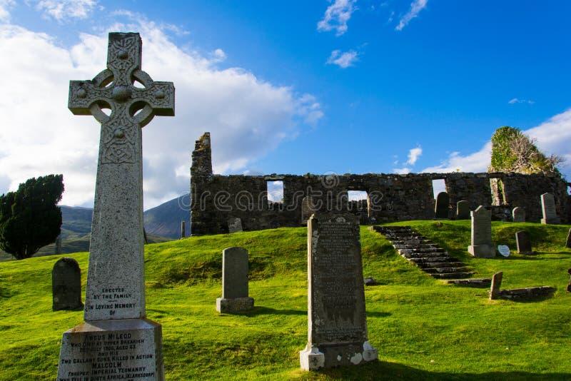 Старые руины в Шотландии стоковая фотография