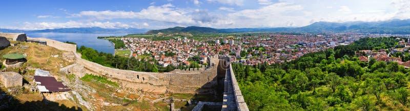 Старые руины замка в Ohrid, македонии стоковое изображение rf