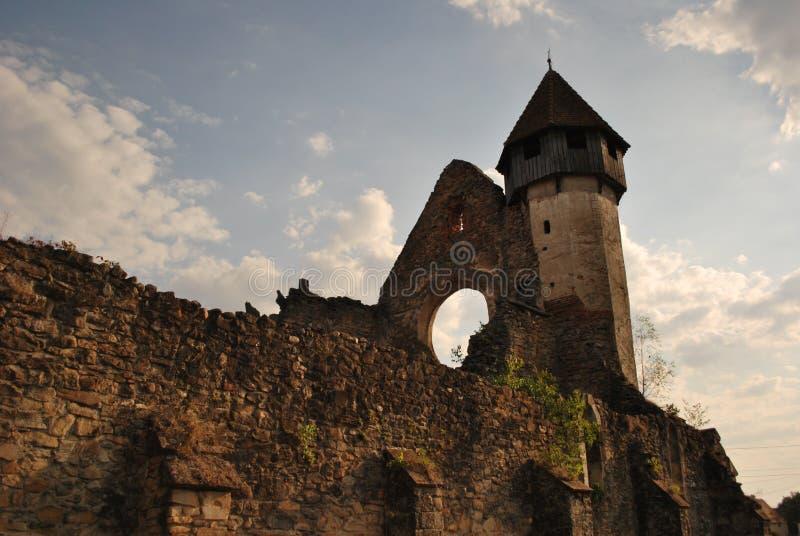 Старые руины церковь-крепости #1 стоковые изображения rf