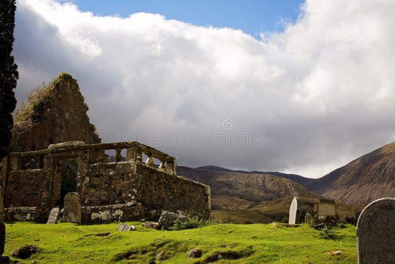 Старые руины церков в северо-западе Шотландии стоковые фотографии rf